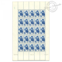 FRANCE N°461 GEORGES GUYNEMER, FEUILLE DE 25 TIMBRES NEUFS-1940