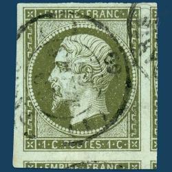 FRANCE N°11 TYPE NAPOLÉON, TIMBRE OBLITÉRÉ, SIGNÉ-1860