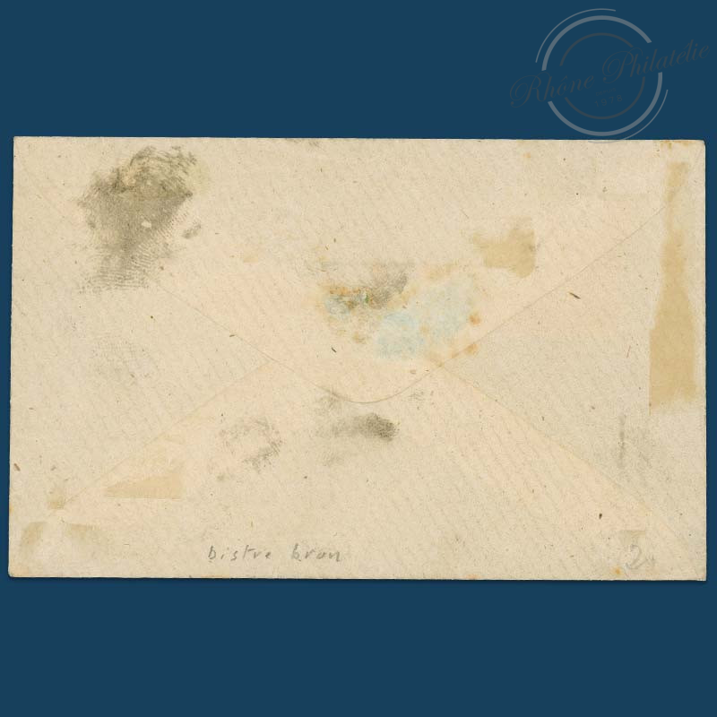 FRANCE N°13B TYPE NAPOLÉON, TIMBRE OBLITÉRÉ SUR ENVELOPPE-1853-1860