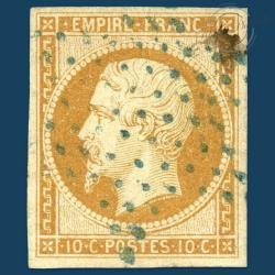 FRANCE N°13A TYPE NAPOLÉON, TIMBRE RARE, OBLITÉRÉ ET SIGNÉ-1853