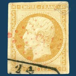 FRANCE N°13A TYPE NAPOLÉON, TIMBRE OBLITÉRÉ, SIGNÉ DE 1853
