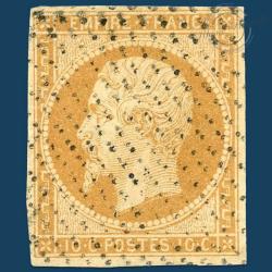 FRANCE N°13A TYPE NAPOLÉON, TIMBRE OBLITÉRÉ ET SIGNÉ DE 1853