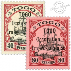 TOGO N°28 ET 29 OCCUPATION MILITAIRE, TIMBRES NEUFS*1914