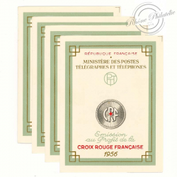 FRANCE 4 CARNETS CROIX-ROUGE N°2005, TIMBRES NEUFS-1956