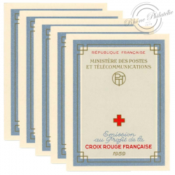 FRANCE 5 CARNETS CROIX-ROUGE N°2008, TIMBRES NEUFS-1959