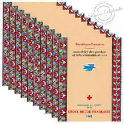 FRANCE 10 CARNETS CROIX-ROUGE N°2010, TIMBRES NEUFS DE 1961