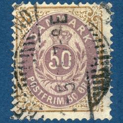 DANEMARK N°28a ROYAUME, TIMBRE OBLITÉRÉ-1875-1903