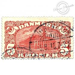 DANEMARK N°68 HÔTEL DES POSTES COPENHAGUE, TIMBRE OBLITÉRÉ-1912