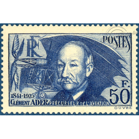 N°398 CLÉMENT ADER, TIMBRE NEUF*, 1938
