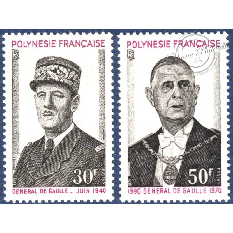 POLYNESIE N°_89-90 ANNIVERSAIRE MORT GENERAL DE GAULLE