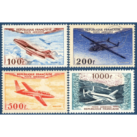 PA N°30 A 33 PROTOTYPES, SÉRIE TIMBRES NEUFS**, 1954