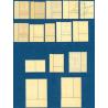 TIMBRES DE SERVICE N°1 A N°15, TYPE FRANCISQUE, NEUFS**, 1943
