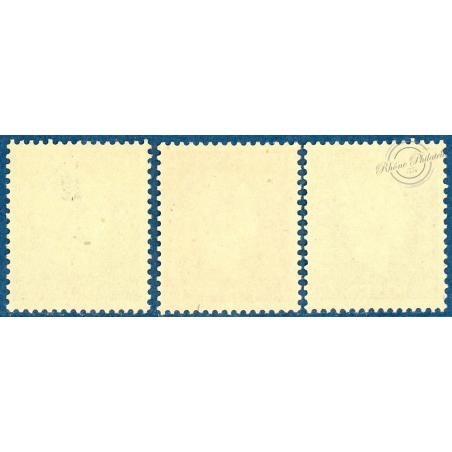 N°701A A 701C, TYPE MARIANNE DE DULAC, TIMBRES NEUFS, 1942