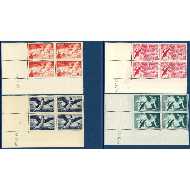 COIN DATÉ PA N°16 A 19, SÉRIE MYTHOLOGIQUE, TIMBRES NEUFS**, 1946, TTBE
