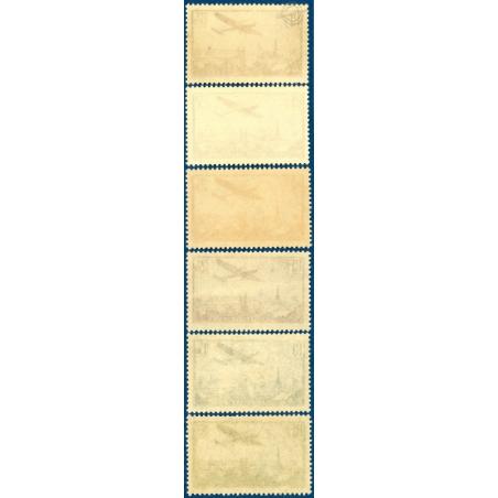 PA N°8 A 13 AVION SURVOLANT PARIS, TIMBRES NEUFS AVEC CHARNIÈRES, 1936