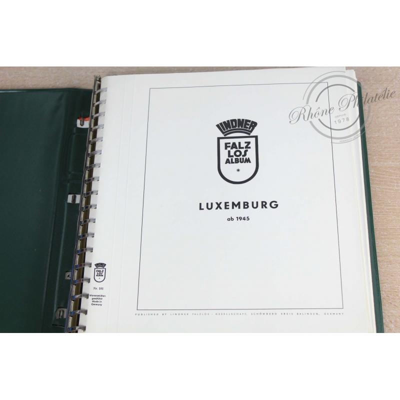 COLLECTION DE TIMBRES DU LUXEMBOURG DE 1940 À 1946, ALBUM LINDNER