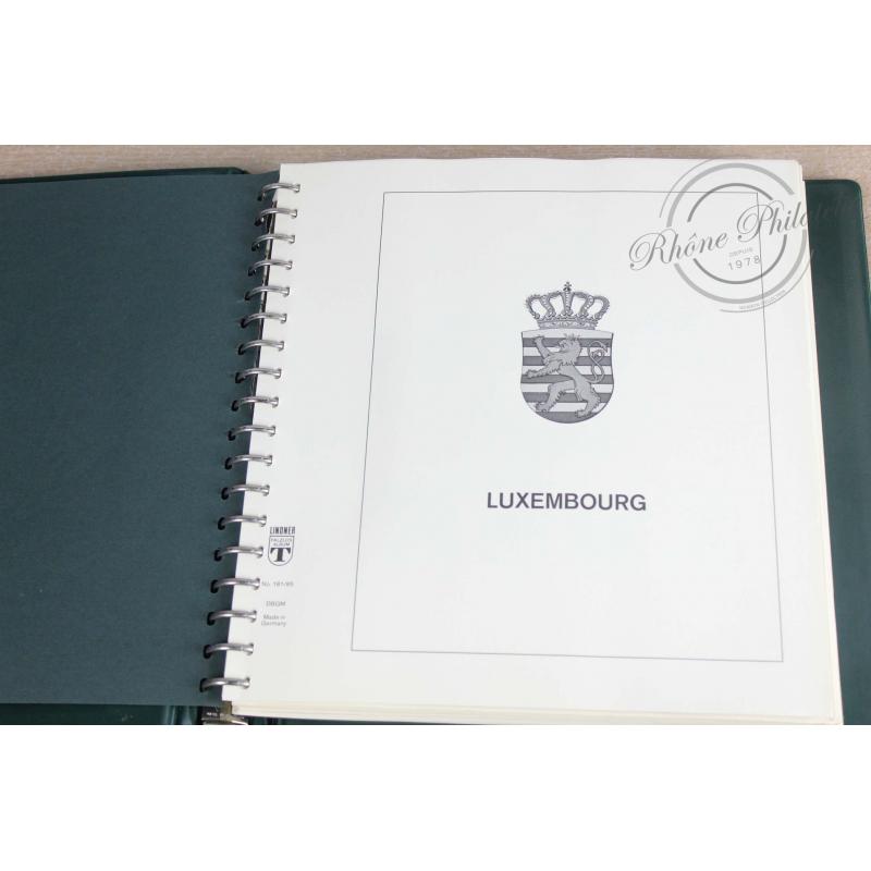 COLLECTION DE TIMBRES DU LUXEMBOURG DE 1966 À 1987, ALBUM LINDNER