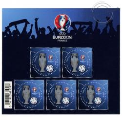 BLOC FEUILLET N°137 UEFA EURO 2016, EN FRANCE