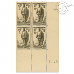 FRANCE N°420 MONUMENT LEON TRULIN, COIN DATE, TIMBRES NEUFS-1939