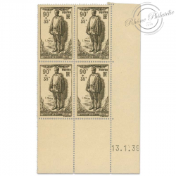 FRANCE N°420 MONUMENT LEON TRULIN, COIN DATE, TIMBRES NEUFS DE 1939