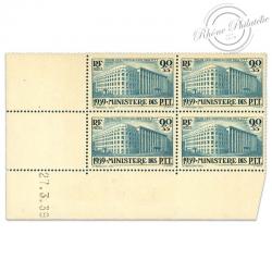 FRANCE TIMBRES N°424 ORPHELINS DES P.T.T, COIN DATÉ NEUFS-1939