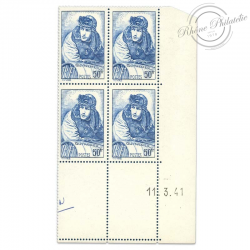 FRANCE TIMBRES N°461 GEORGES GUYNEMER, COIN DATÉ NEUF-1940