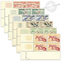 FRANCE TIMBRES N°960 À 965 JEUX OLYMPIQUES HELSINKI, COINS DATÉS NEUFS-1953