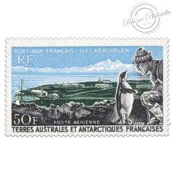 TAAF POSTE AERIENNE N°14, PORT-AUX-FRANCAIS, TIMBRE NEUF-1968