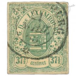 LUXEMBOURG N°10, G.D DE LUXEMBOURG, TIMBRE OBLITÉRÉ 1859-63