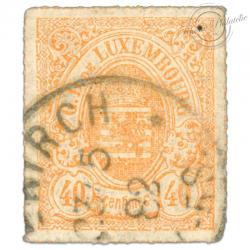 LUXEMBOURG N°11, G.D DE LUXEMBOURG, TIMBRE OBLITÉRÉ 1859-63