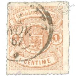 LUXEMBOURG N°12, G.D DE LUXEMBOURG, TIMBRE OBLITÉRÉ 1865-73