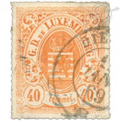 LUXEMBOURG N°23, G.D DE LUXEMBOURG, TIMBRE OBLITÉRÉ 1865-73