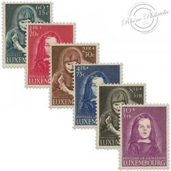 LUXEMBOURG N°433 À 438, PUPILLES DE LA NATION, TIMBRES NEUFS-1950