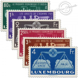 LUXEMBOURG N°443 À 448, L'EUROPE UNIE, TIMBRES NEUFS-1951
