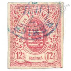 LUXEMBOURG N°7, G.D DE LUXEMBOURG, TIMBRE OBLITÉRÉ ET SIGNÉ 1859-63