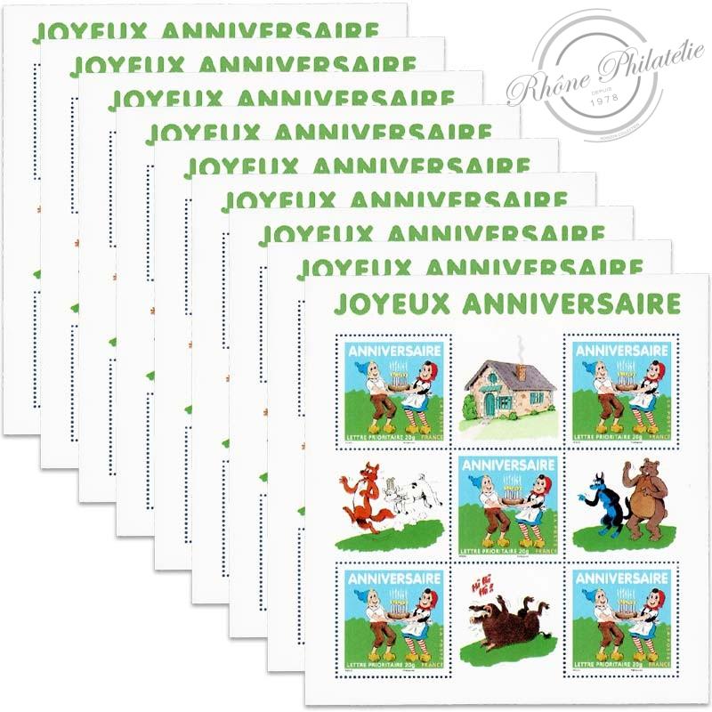 LOT DE 50 LETTRES PRIORITAIRES , BLOCS N°112 ANNIVERSAIRE - SYLVAIN ET SYLVETTE