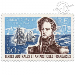 TAAF N°25 AMIRAL DUMONT D'URVILLE, TIMBRE NEUF-1968