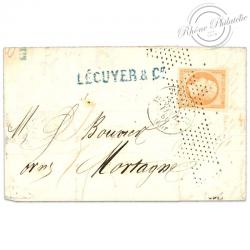 FRANCE N°16 TYPE NAPOLÉON, TIMBRE OBLITÉRÉ-1853