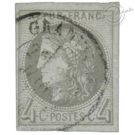 FRANCE N°41B TYPE CÉRÈS, TIMBRE OBLITÉRÉ, SIGNÉ, CERTIFICAT-1870
