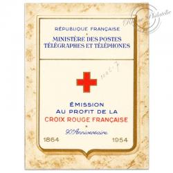 FRANCE CARNET CROIX-ROUGE N°2003, TIMBRES NEUFS EMIS EN 1954
