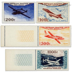 FRANCE PA N°30 À 33 PROTOTYPES, TIMBRES NEUFS**/*SIGNES-1954