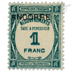 ANDORRE FRANÇAIS TAXE N°12, TIMBRE NEUF*1931-32