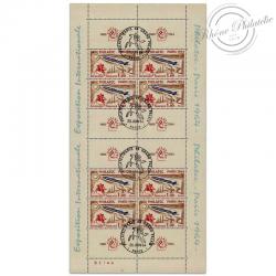 "FRANCE BLOC N°6b ""PHILATEC"" TIMBRES OBL-1ER-JOUR-1964"
