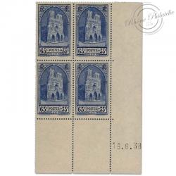 FRANCE COIN DATÉ N°399, CATHÉDRALE DE REIMS, TIMBRES NEUFS-1938