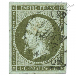 FRANCE N°11 TYPE NAPOLÉON, TIMBRE OBLITERE DE 1860