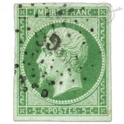 FRANCE N°12 TYPE NAPOLÉON, TIMBRE OBLITÉRÉ DE 1854