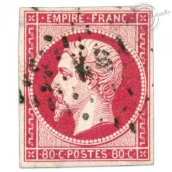 FRANCE N°17B NAPOLÉON, SUPERBE TIMBRE OBLITÉRÉ-1859