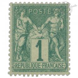 FRANCE N°61 TYPE SAGE 1C VERT, TIMBRE NEUF* DE 1876
