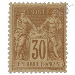 FRANCE N°80 TYPE SAGE BRUN-JAUNE, TIMBRE NEUF-1881