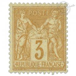 FRANCE N°86 TYPE SAGE 3C BISTRE-JAUNE, TIMBRE NEUF*1878